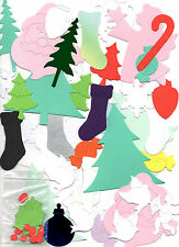100 x Mixed Xmas Sizzix Die Cut Shapes For Card Making