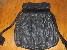 Ladies New Look Black/silver Strapless Dress  Size 14