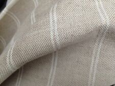 10 Metres Laura Ashley Linen Stripe Natural Fabric Curtain Fabric FREE POSTAGE