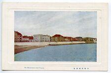 CHINA 1921 coloured embossed frame unused postcard Maizuruhama Bund Tsingtau
