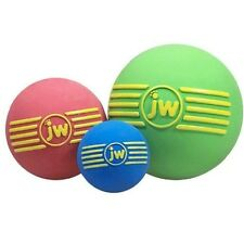 JW Dog Puppy Tetch Play Squeaky Rubber Ball Toy - iSqueak Ball Small