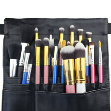 Professional 22 Pockets Cosmetic MakeUp Artist Brush Apron Belt Strap Bag Case