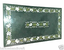 Size 2.5'X5' Marble Dining Coffee Side Table Top Mosaic Inlay Garden Decor H934A