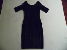 PAUL SMITH BLACK FITTED JERSEY DRESS SIZE 8 EU SIZE 40 (BNWT) £259