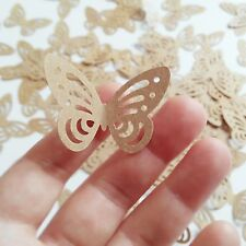 100 x rustic wedding table decorations brown monarch butterfly paper craft