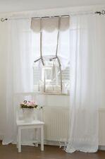 Gardine Deko Vorhang Tilda 90x240 cm 2 Stück weiß Shabby Landhaus Franske NEU