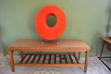 Vintage 60'S 70's Formica  Coffee Table with Newpaper Shelf  Retro Wipeable Top