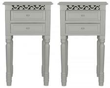 Set of 2 BEDSIDE TABLES in GREY Belgravia style bedside cabinet  shabby / chic