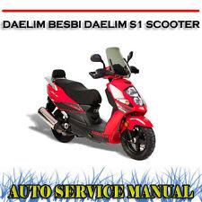 DAELIM BESBI DAELIM S1 SCOOTER WORKSHOP SERVICE REPAIR MANUAL ~ DVD