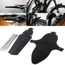 Durable Mountain Bike Cycling Bicycle Front Rear Plastic Mudguard Fender Set BU