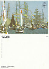 1990's NETHERLANDS TALL SHIPS IN THE HARBOUR UNUSED COLOUR POSTCARD