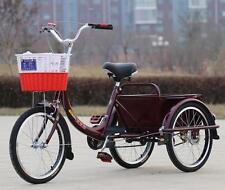 """Dreirad Seniorenfahrrad Jugendrad Shoppingfahrrad 20"""" Rot"""