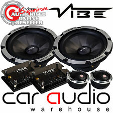"""Vibe BlackDeath6C-V6 840 Watts a Pair 6.5"""" 2 Way Component Kit Door Car Speakers"""
