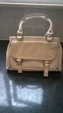 "Monsoon Accessorize cream handbag/buckle detail/3 compartments 10"" x 6"" x 2.5"""