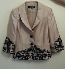 Kasper Gold and Black buttoned jacket top Size 6 New