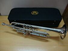 BRAND NEW SILVER NICKEL PLATED Bb TRUMPET WITH FREE HARD CASE+MOUTHPIECE