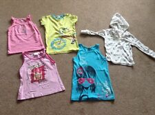 girls sleeveless top age 3'4,5.7, one hooded top 18 mths
