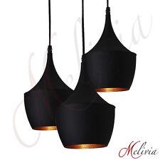 Pendellampe Schwarz Gold 3 x60W Pendelleuchte Hängelampe Deckenlampe Lampe NEU