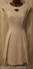 Karen Millen ZigZag Textured Bubble Jacquard Skater Cut Out Party Dress 12 40