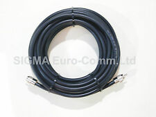RG213 Low Loss 50 Ohm Coaxial Cable 10m Fitted With 2 x PL259 Male Connectors