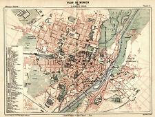 München Stadtplan, Original-Lithographie von 1888