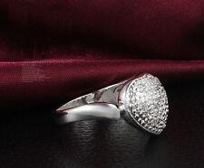 Ring Silberringe 925 Sterling Damen Geburtstagsgeschenk Herz Geschenke Kristall