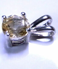 Natural earth-mined citrine in a solid sterling silver pendant ...6 mm stone