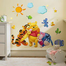 DISNEY WINNIE THE POOH AND FRIENDS  WALL STICKER DECAL NURSERY/KIDS ROOM XMAS