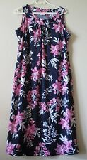 NWOT Millers Ladies Navy Pink Floral Sleeveless Shift Dress Size 14 Perfect