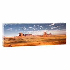 Monument Valley- Bild Leinwand Poster Modern Design Panorama  120 cm* 40 cm 664a