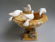 Alabaster Skulptur Schale Tauben des Plinius Pliny´s doves Grand Tour 19. Jh.