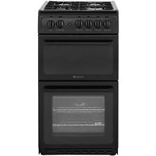Hotpoint HAG51K Gas Cooker with Gas Hob Free Standing 50cm Black New