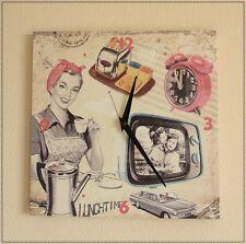 Wanduhr NORMA im Fifties Stil Retro 50er Jahre Küchenuhr Uhr Oldscool NEU