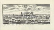 Dantiscum Dantzig Hansestadt Weichsel Polen Kupferstich Merian O 0441