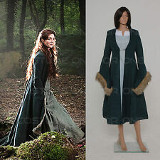 Game of Thrones Daenerys Targaryen Blue fancy Party dress Coat Cosplay Costumes