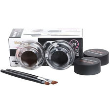 2 in 1 Brown + Black Gel Eyeliner Make Up Waterproof and Smudge-proof Set