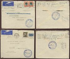 SOUTH AFRICA 1946-48 FRENCH COMMERCIAL ATTACHE AIRMAILS...2 ITEMS
