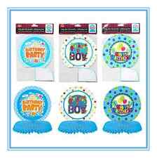 3 X PAPER CENTRE PARTY TABLE DECORATIONS - BOY BIRTHDAY SERIES - 3 DESIGNS