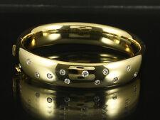 Schöner Brillant Armreif 0,75ct (Gravur) Manufaktur Quinn 50,2g 750/- Gelbgold