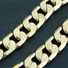 AN631 GENUINE REAL 18K ROSE G/F GOLD SOLID UNISEX MENS CUBAN CURB NECKLACE CHAIN