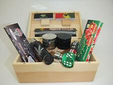 DELUXE GIFT SET MEDIUM SMOKING SMOKERS ROLLING BOX Herb Grinder