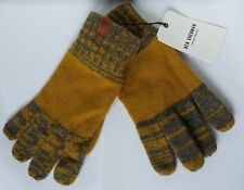 Ben Sherman Winter knitted gloves. One Size. Grey/Yellow. Wool blend. Gift idea