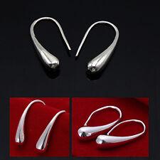 Crystal Rhinestone 925 Sterling Silver Earrings Dangle Hook Hoop Leverback Drop
