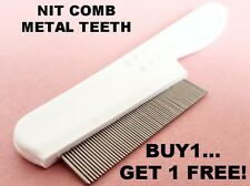 Metal Head Lice Nit Comb Remove Egg Fleas Kid Adults Pets, Buy One Get One Free