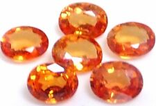 NATURAL EXCELLENT SONGEA ORANGE SAPPHIRE GEMSTONES (PAIR) OVAL (4.5 x 3.5 mm)