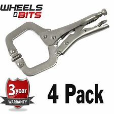 NEW 4 PK 6 Inch Steel C CLAMP Adjustable Jaws DIY Woodwork Welding Great Quality