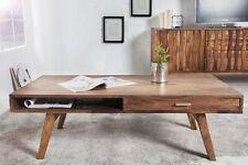 """Massivholz Couchtisch """"BORK"""" Sheesham 120cm Retro Vintage Wohnzimmer Tisch NEU"""