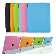 """Premium  Hard Smart Case For Apple iPad 2,3,4 Flip Stand Back Cover 10.1"""" Device"""