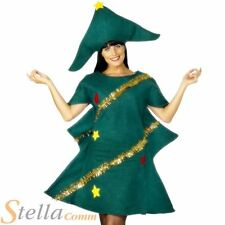 Adult Christmas Tree Costume Xmas Fancy Dress Mens Ladies Festive Outfit