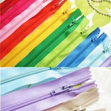 50 ASSORTED DRESS UPHOLSTERY CRAFT NYLON METAL CLOSED OPEN ENDED ZIPS BRAND NEW